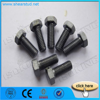 Black Surface Treatment Hex Bolts And Nuts 8.8 Grade