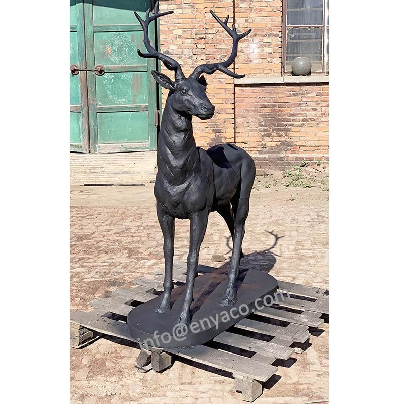 Scultura Animale di grandi dimensioni, La Vita di Formato Cast Statue Da Giardino In Ferro Cervo