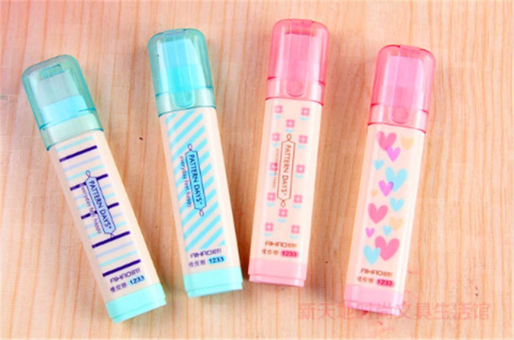 WishgiftCC Extension Type Cute Design Plastic Eraser 4pcs, Cute Creative Stationery and Office Supplies