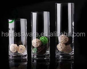 Hot Sale Straight Hurricane Glass Vases Wedding