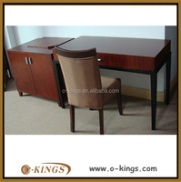 Hotel desk and chair set economical bedroom furniture