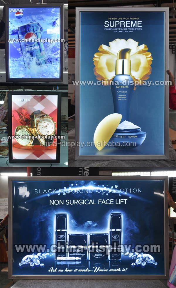 Bank Advertising Aluminum Metal Frame advertising replaceable light boxes
