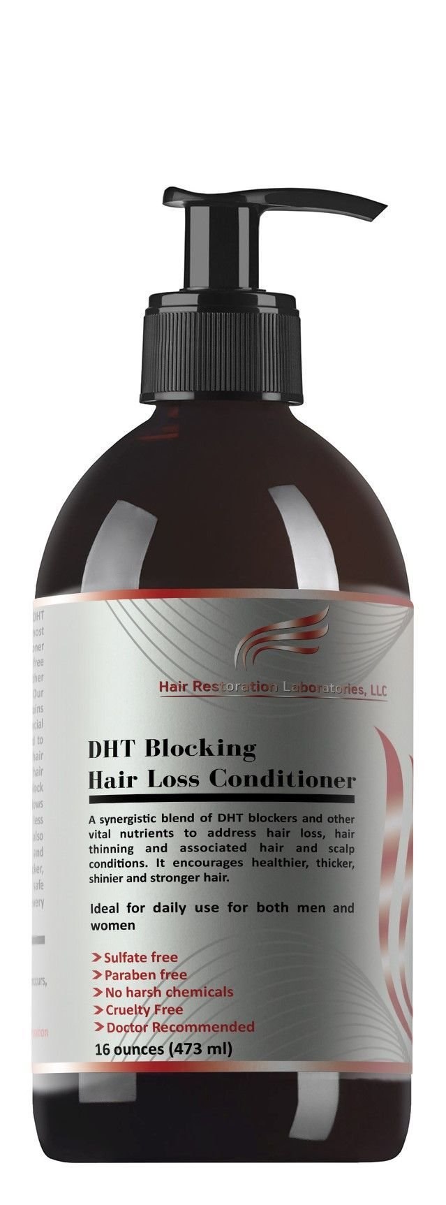 HAIR RESTORATION LABORATORIES' DHT BLOCKING HAIR LOSS CONDITIONER-16 OUNCES. THE MOST EFFECTIVE HAIR LOSS CONDITIONER EVER DEVELOPED FOR MEN & WOMEN: OVER 20 DHT BLOCKERS.