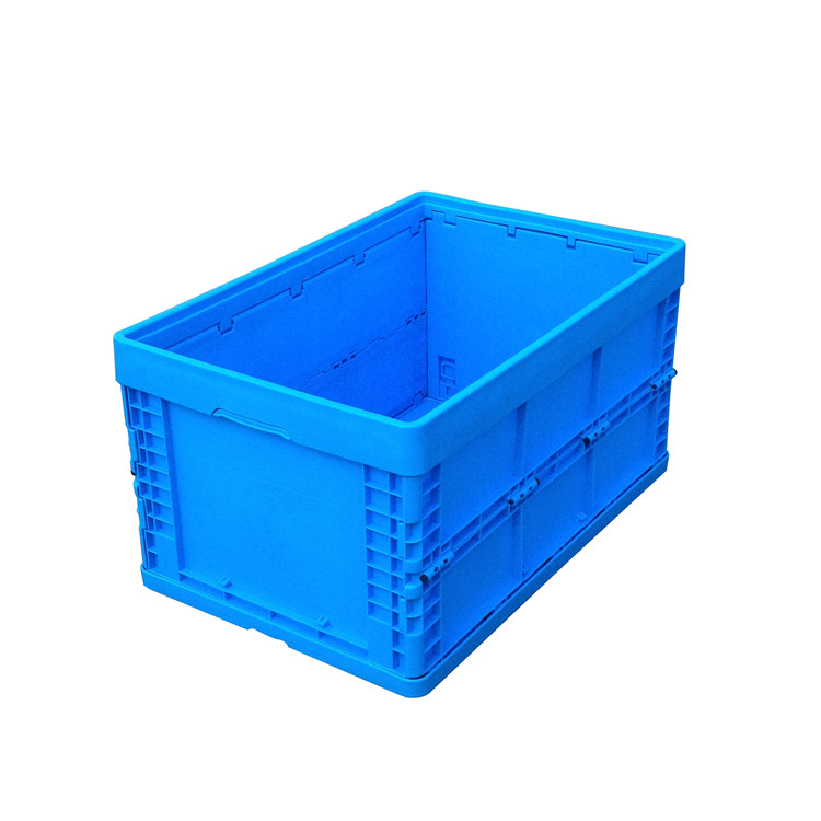 600*400*320mm stackable and foldable plastic moving crates and boxes for storage