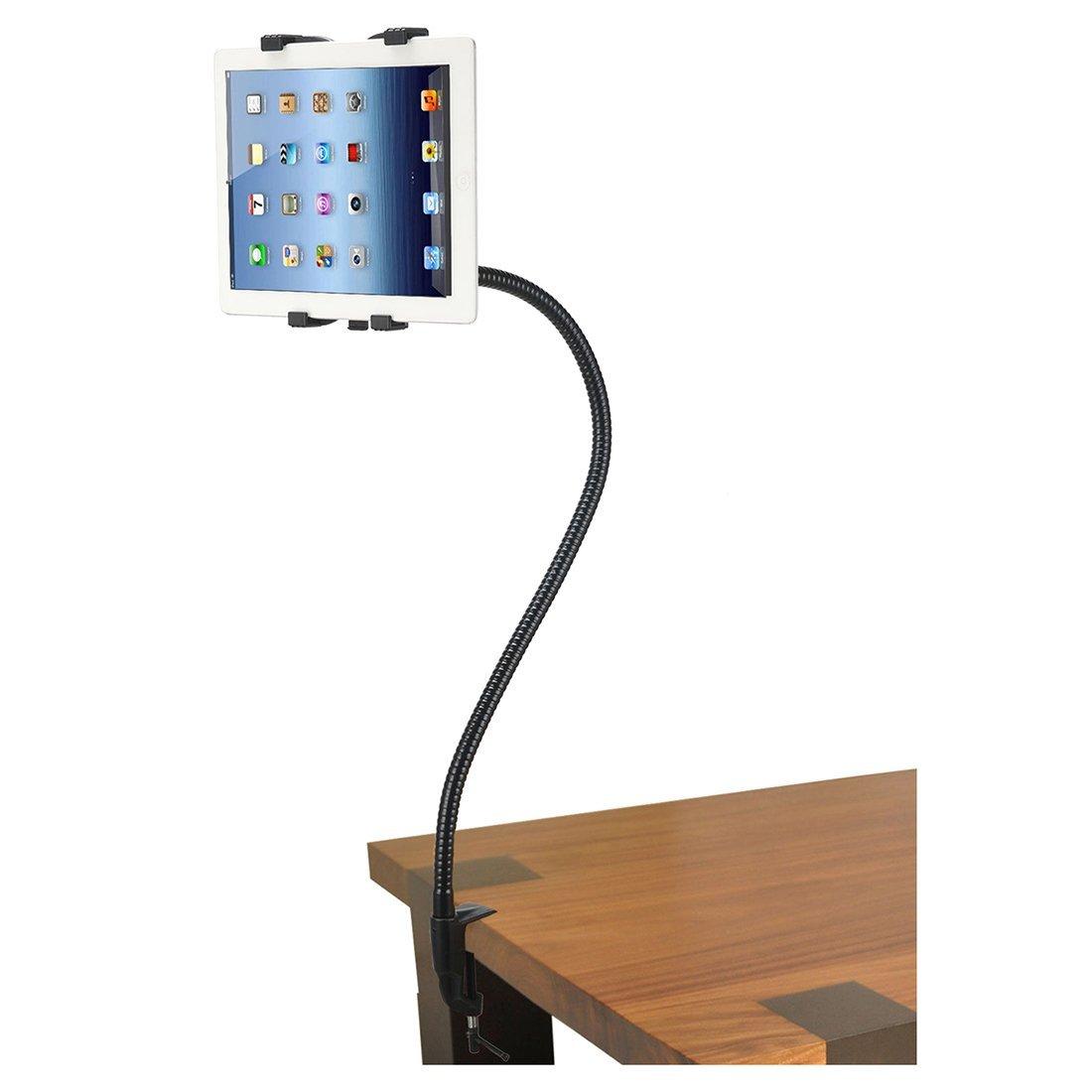Desk Stand - TOOGOO(R)Gooseneck 360 Lazy Bed Desk Stand Holder Mount-iPad 2 3 4 Air Mini Tablet Black