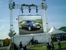 wholesale electronic P10 full color advertising video outdoor led display screen/sign/panel/board STAND support
