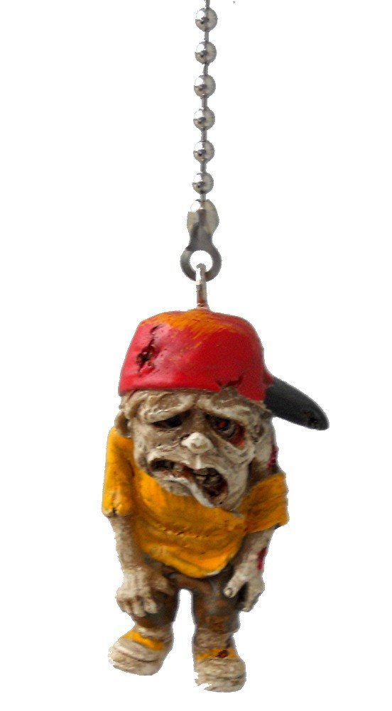 Urban ZOMBIE apocalypse Ceiling FAN PULL light chain (Red Hat Urban Zombie)