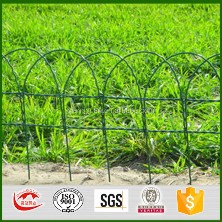 Border Edging Scroll Top Wire Fence For Gardendecorative Garden