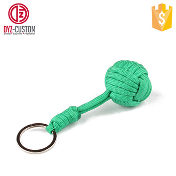 Self-denfence Paracord Monkey Fist Knot Keychain - Buy Paracord ... 642c6244bae9