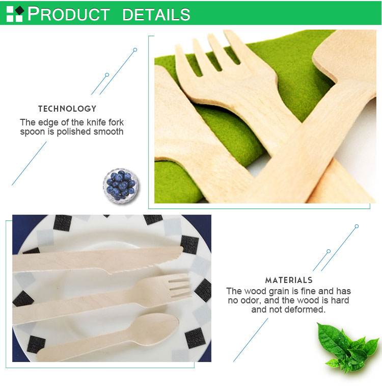 Hot sale disposable Wooden cutlery set disposable