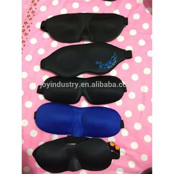 J052 Hot Sale Comfortable Luxury Fashion Memory Foam Sleeping Covers 3D Eye Mask with Ear Plugs