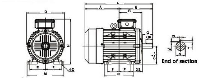 peso ligero ie4 ip55 3 fase 1 5kw 100hz pmsm 3000 rpm