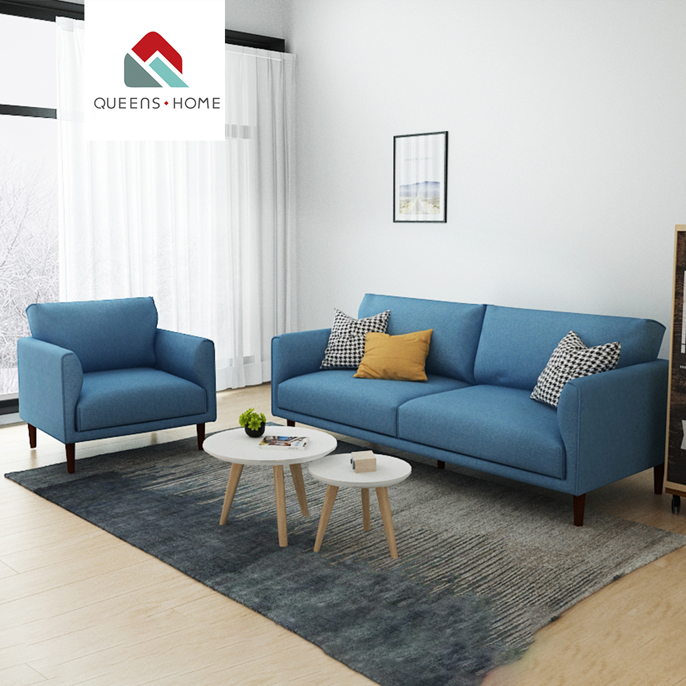 The Nordic Style Sitting Room Sofa Upholstery Fabric Modern Simple Whole Pack Combination Living Set Designs