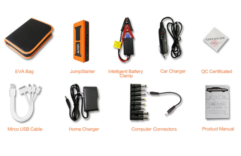 Jump start power bank 12 v 24 v auto starter 20000 mah