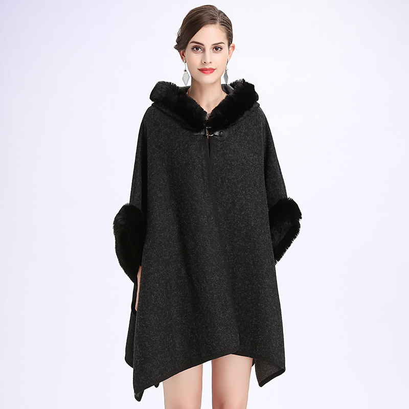 Luxury Bridal Faux Fur Shawl Wraps Cloak Coat Sweater
