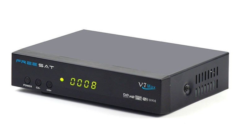 Manufacturer price Freesat V7 Max Satellite Receiver DVB-S2 1080P HD TV Box Decoder V7 hd max