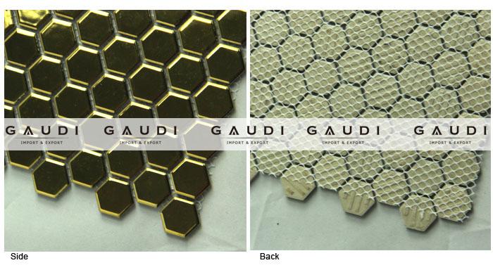Zeshoekige vorm pará ceramica mozaïek tegels voor keuken mozaïeken ...