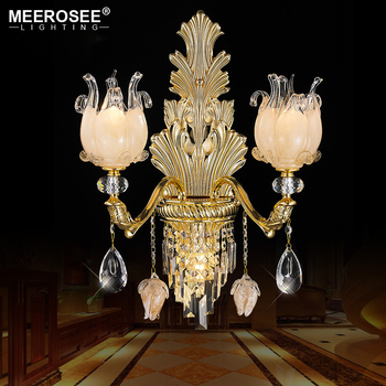 Meerosee brass color zinc alloy crystal wall sconce lights dragon meerosee brass color zinc alloy crystal wall sconce lights dragon fruit glass holder for living room aloadofball Image collections