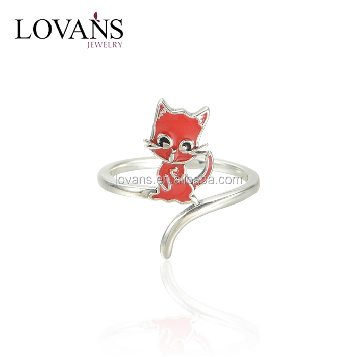 Fashion Animal Ring Jewellery With Enamel