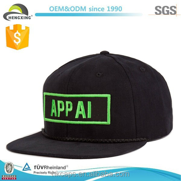 Alibaba china snapback caps and hats with glow 3D embroidery in dark