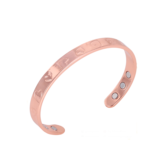simple love pattern copper bracelet magnetic bracelet with 6 magnets