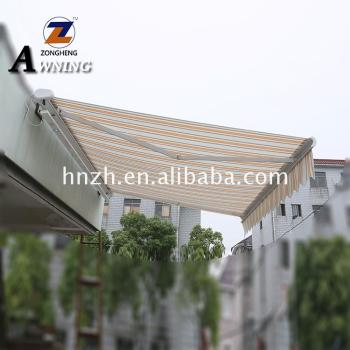 Top quality aluminum awnings lowes rain protection in window and door wrought iron awning digital printer
