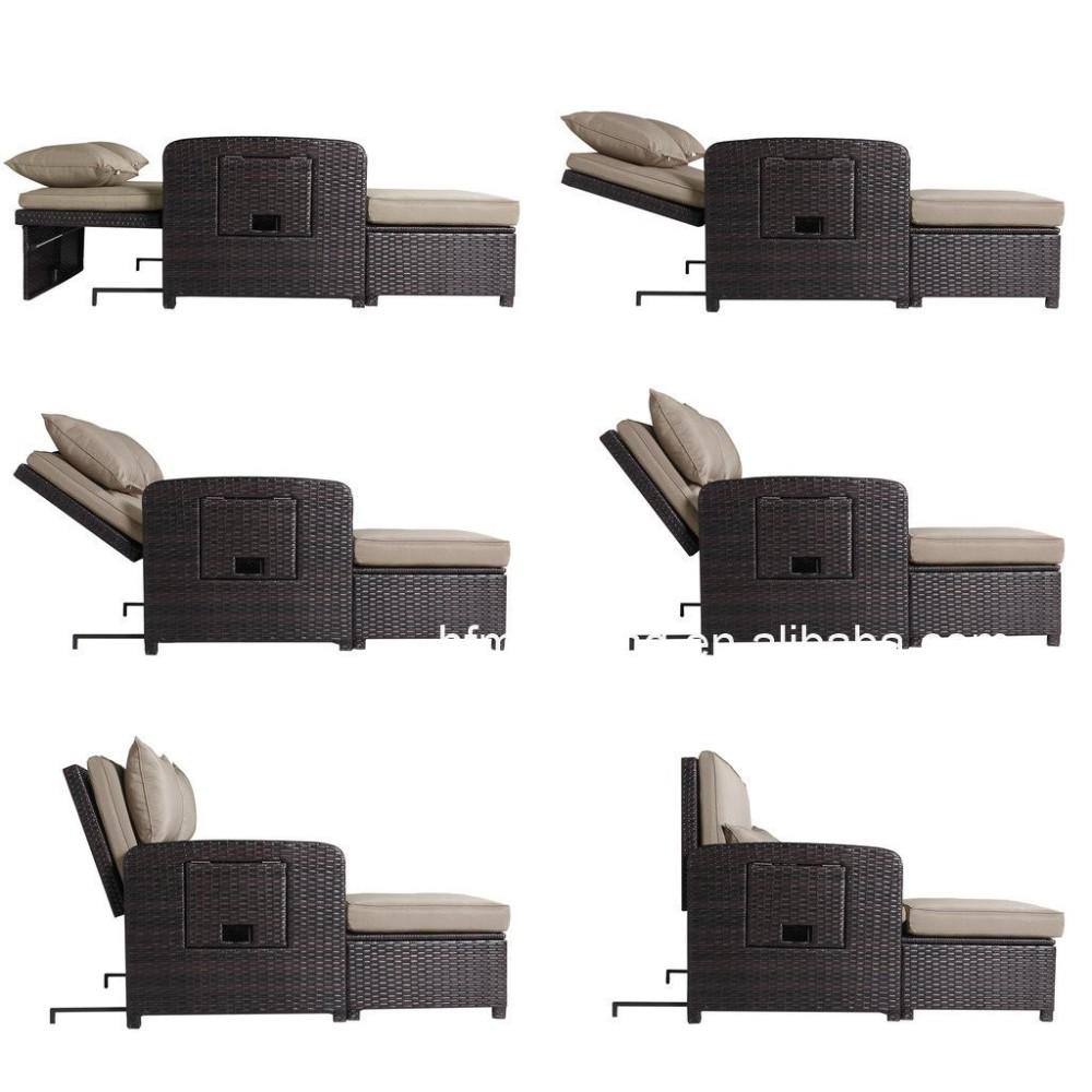 Rota del PE al aire libre de mimbre sillón y otomana muebles sillón ...