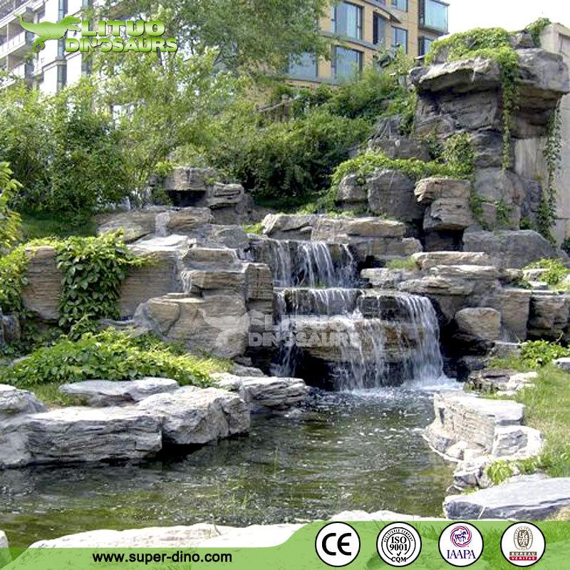 Garden decoration artificial rock waterfall buy for Artificial waterfalls design