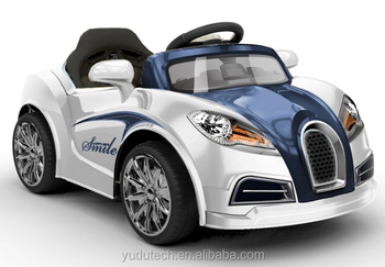 white kids ride on car 60w motor 12v rechargeable 2 speed bugatti style remote ride on