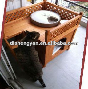 Wooden Pet Cage/House for Big Cat