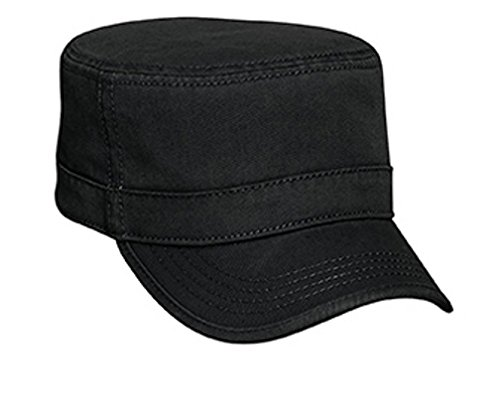 Hats & Caps Shop Superior Garment Washed Cn Twill with Binding Trim Visor Military Style Caps - By TheTargetBuys