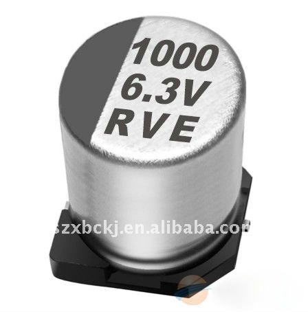 SMD Aluminum Electrolytic Capacitor for RVE1000uf 6.3V