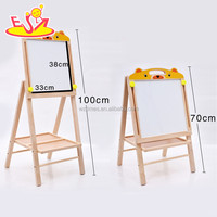 Wholesale hot sale height adjustable wooden painting board stand for toddler W12B086