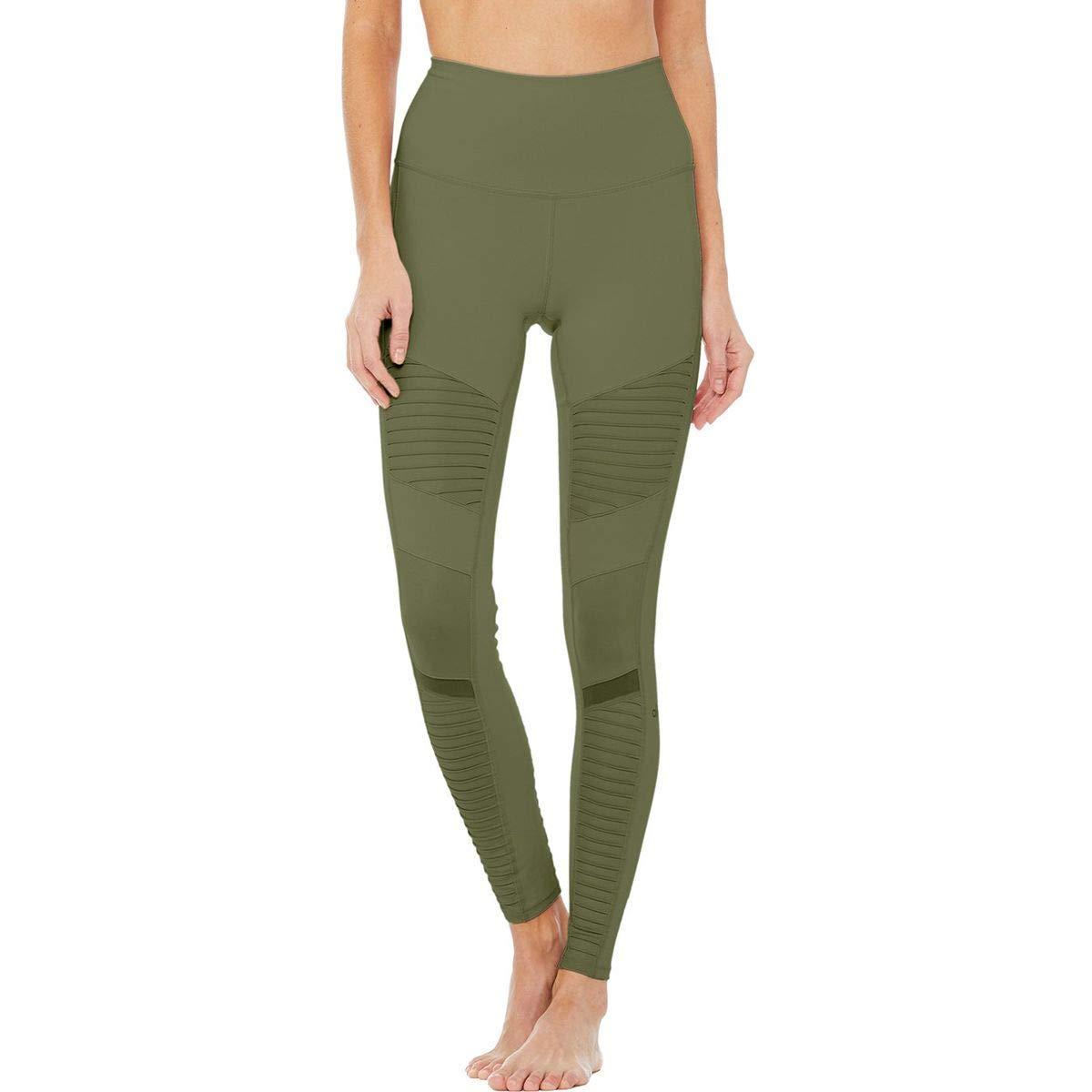 81ce5a21174a4 Get Quotations · Alo Yoga High-Waist Moto Legging - Women's Jungle/Jungle  Glossy, ...