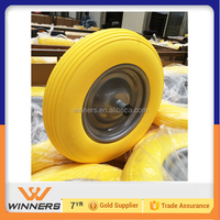 14 inch steel rim wheel barrow solid PU foam wheel