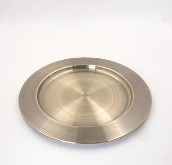 Decoration 30cm Oem Color Mirror Polish Metal Tray Dinner Plate ...