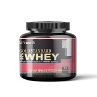 Lifeworth strawberry flavour whey protein isolate supplements