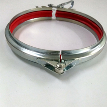 Galvanised air duct clamps/clips