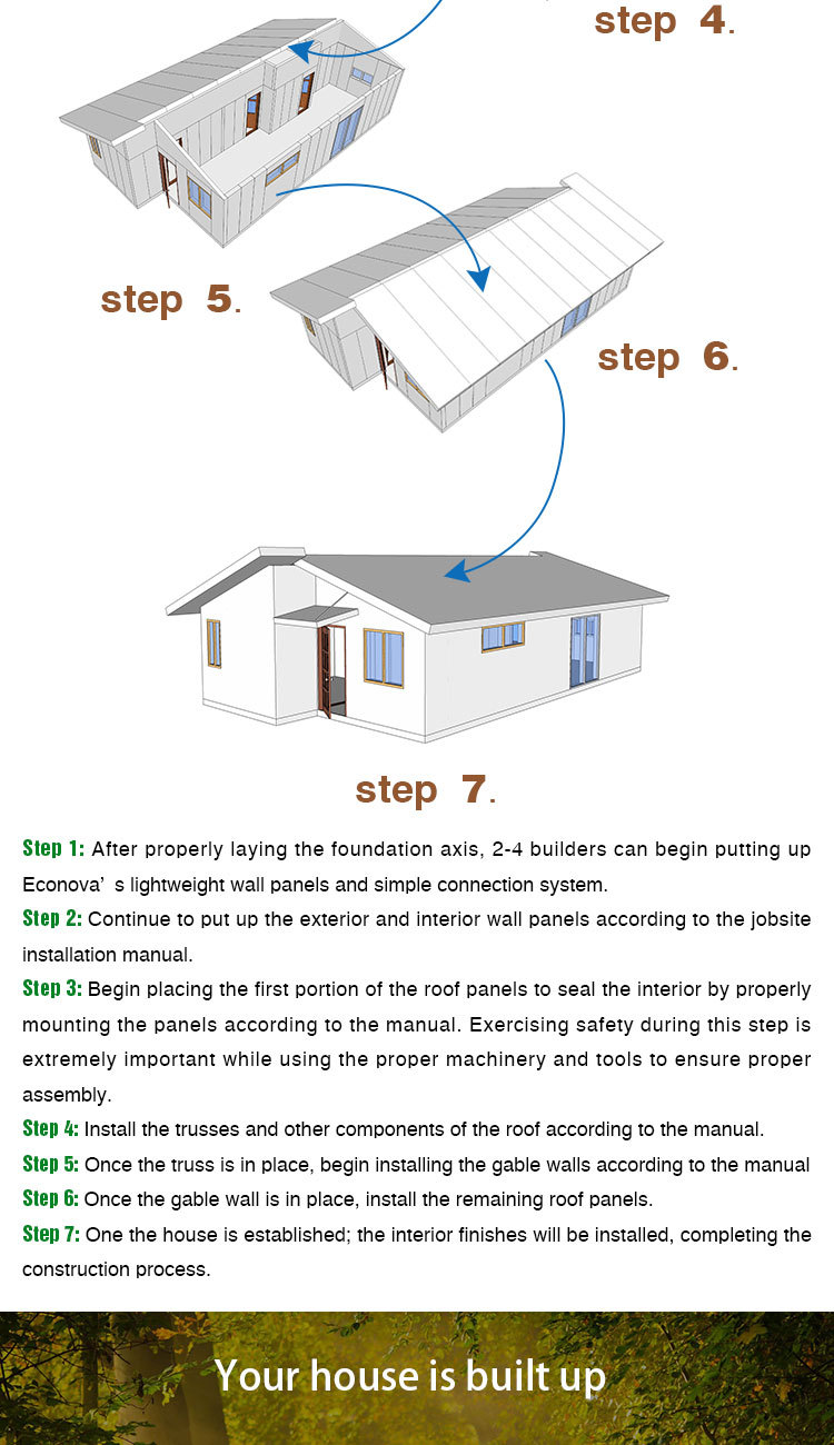 econova protable log cabin modular cabin small prefab granny flat