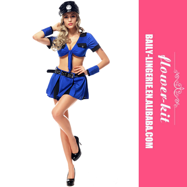 Police Office Adult Blue Costume Kit