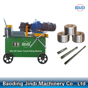 Hot selling construction rebar used thread rolling machine JBG-40K