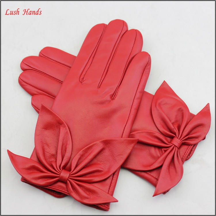 driving leather hand gloves police leather gloves women winter gloves