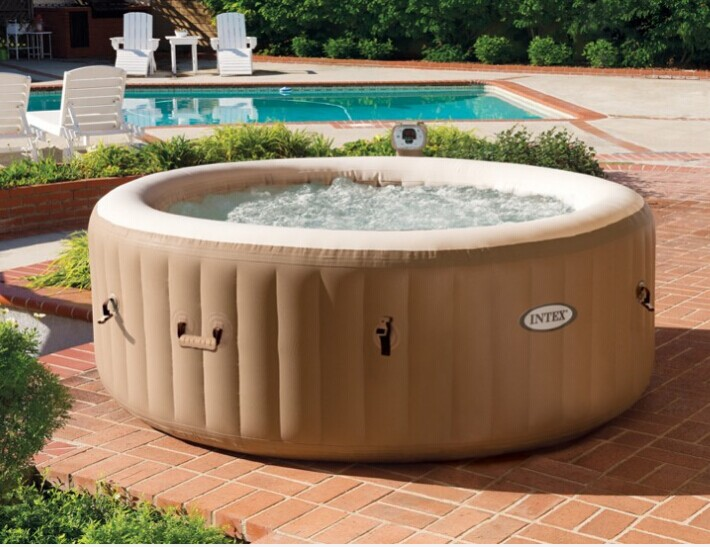 Round Shape Inflatable Portable Spa Inflatable Hot Tub Inflatable Bubble Spa For 4 Person
