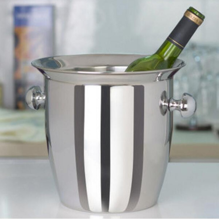 roundl champagne ice bucket antique ice bucket
