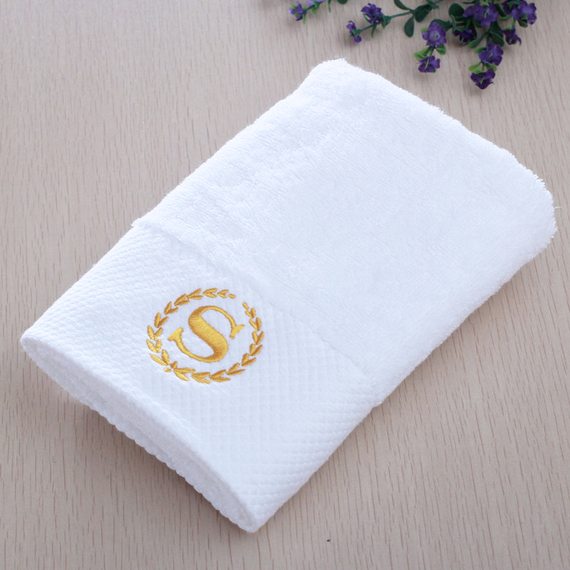 Factory Wholesale Luxury 100% Cotton White Hotel Bath Towel Set