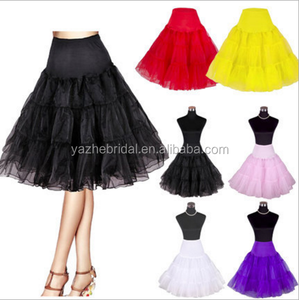 16 Colors-Wholesale Knee Length Tulle Petticoat Colorful Underskirt For Women Dress Ballet Dance Tutu Skirt