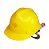 Yellow color PE materials V type cheap construction safety helmet for workers
