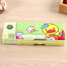 Unusual magnet pop out plastic school cool pencil case with compartments for students