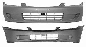 Crash Parts Plus Front Bumper Cover for 1999-2000 Honda Civic HO1000184