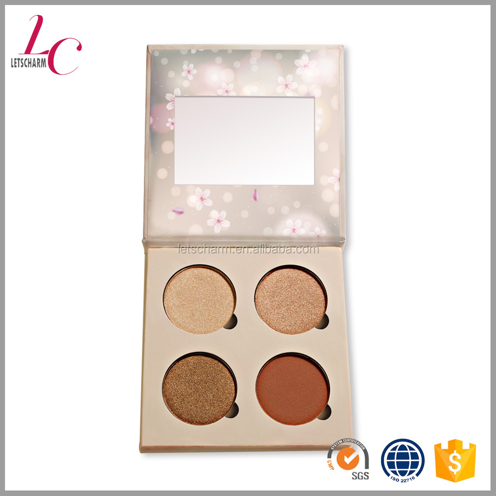 wholesale refillable makeup no brand neutral matte cardboard eyeshadow cosmetic palette